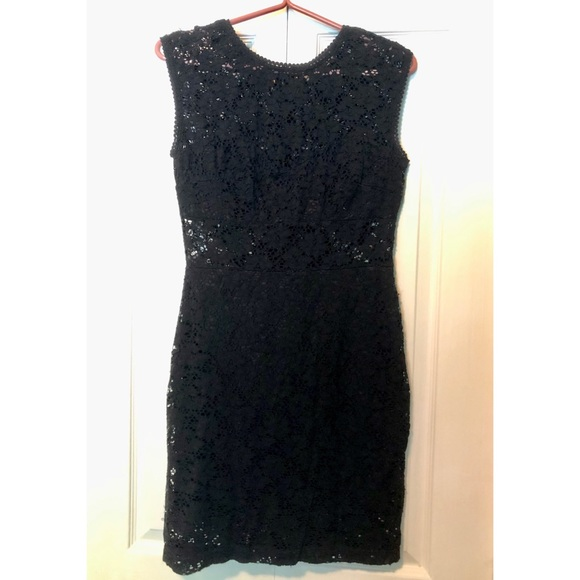Black lace body con holiday dress